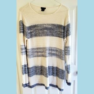 Calvin Klein Jeans Striped Tunic Sheer Back Panel